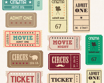 Circus clipart circus ticket SALE Vintage TICKETS