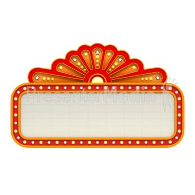 Movie clipart outdoor movie Theme clipart signs Marquee Best