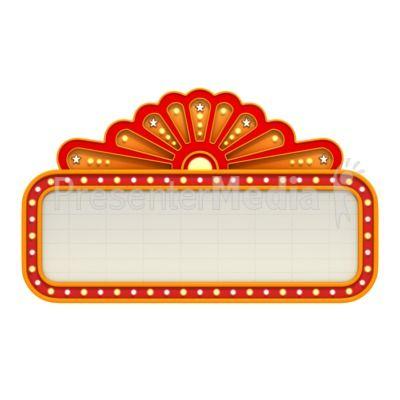 Neon Sign clipart broadway theatre Theme movie Marquee Presentation Movie