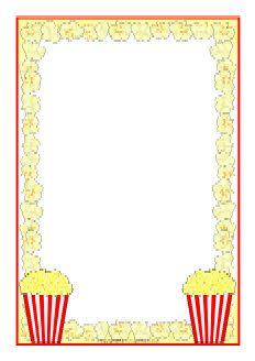Popcorn clipart border Invitation blank clapper chocolate great