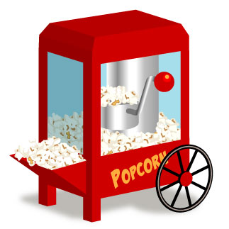 Basket clipart popcorn Popcorn clip collection art and