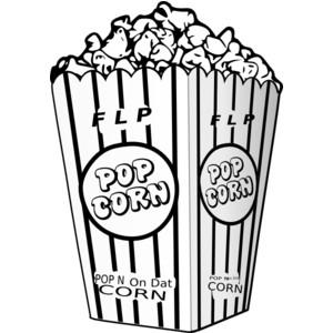 Popcorn clipart vintage White black white clipart clipart