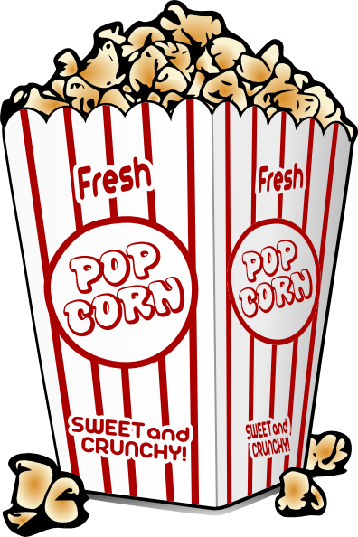 Carnival clipart popcorn container 396x594 fair Clipart food Free