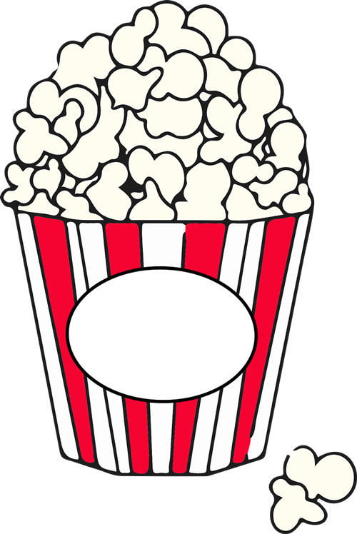 Popcorn clipart black and white Art collection clipart 500x748 2017