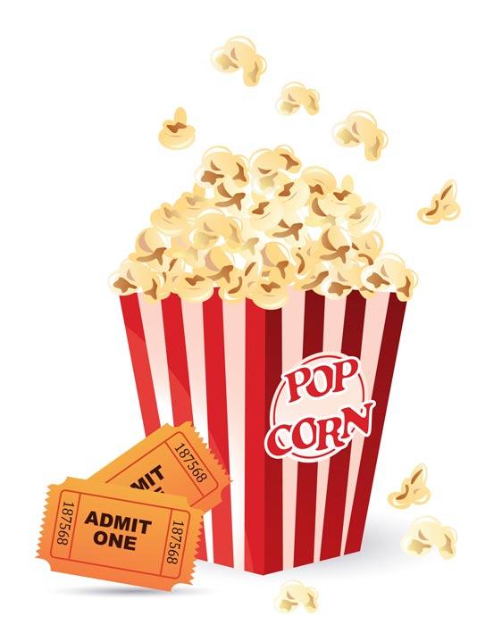 Movie clipart popcorn kernel Clip white 4 WikiClipArt clip