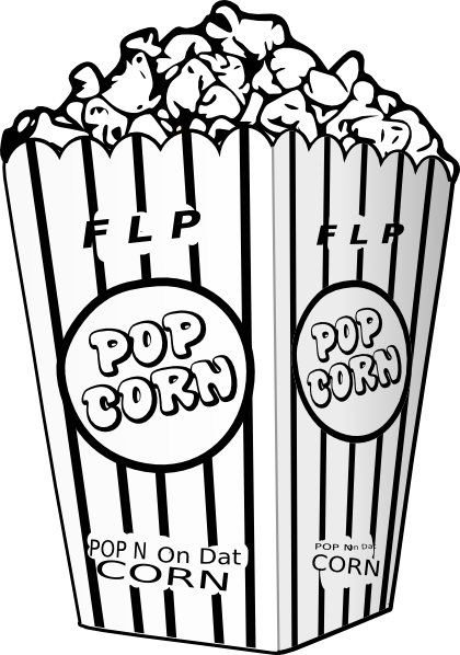 Popcorn clipart black and white White others and popcorn