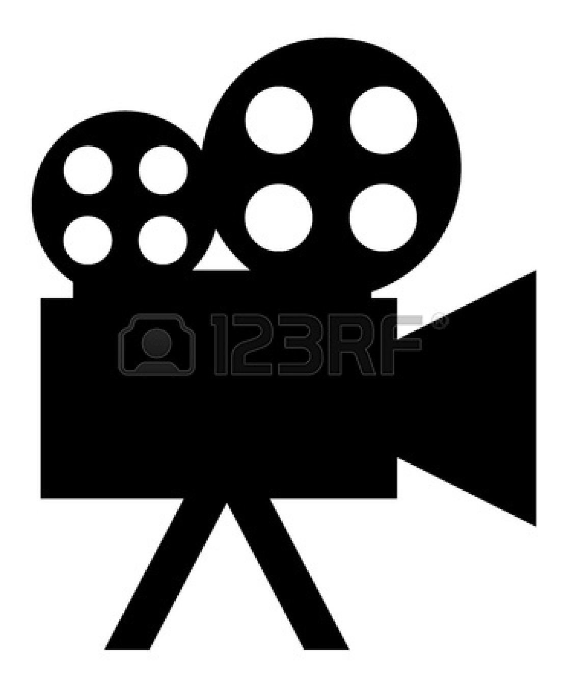 Movie clipart silhouette Movie Panda Images Clipart Projector