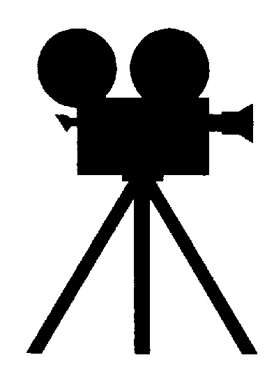 Movie clipart silhouette Arthursclipart images on cine org/silhouettes/misc/CAMERA