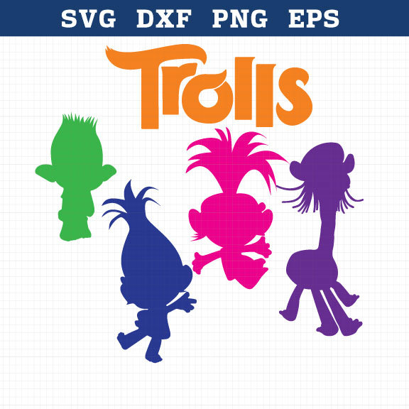 Movie clipart silhouette Svg Trolls birthday Trolls svg