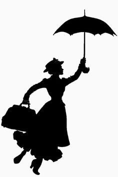 Movie clipart silhouette Poppins  MovieSilhouette Clipart Poppins