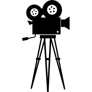 Movie clipart silhouette Camera silhouette Pinterest cliparts Best