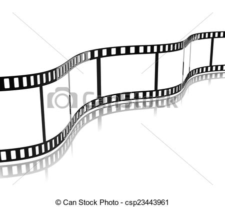 Movie clipart stripe Picture Stripe Film Stripe csp23443961