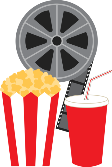 Popcorn clipart coke Cup of a with movie