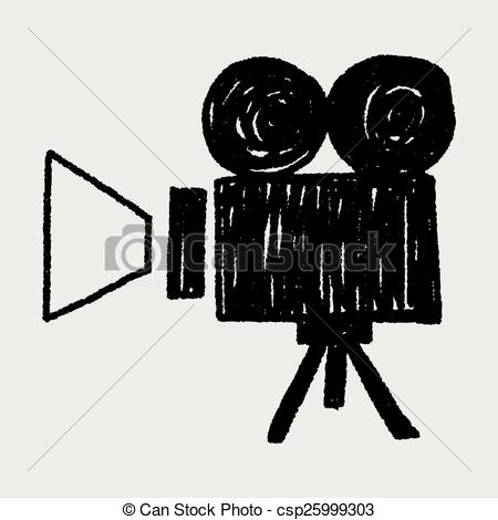 Movie clipart video recorder Vector of Video Doodle Doodle
