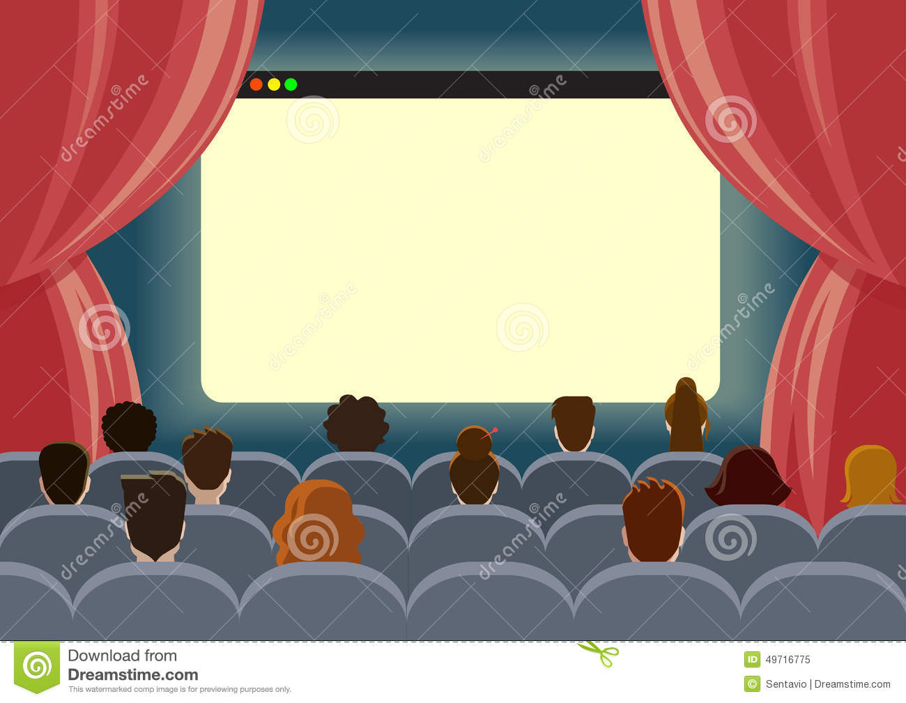 Theatre clipart cartoon Theater collection people cinema theater