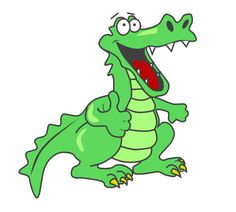 Moving clipart alligator 3D clip spin Cartoons animation