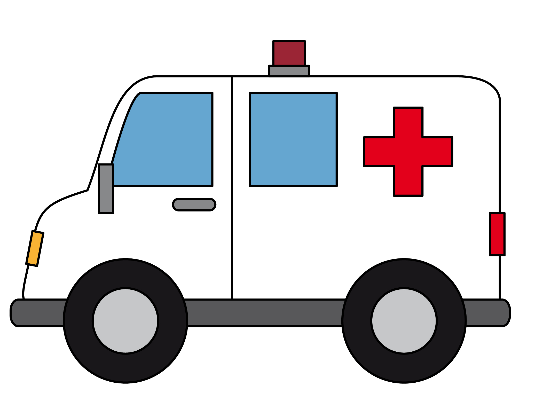 Moving clipart ambulance Art Domain to Free Cartoon