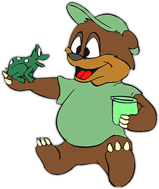 Moving clipart animal Animations bear Animal frog with