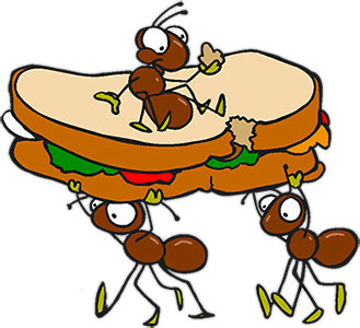 Ants clipart hard working Anta eating sandwich Animations Graphics