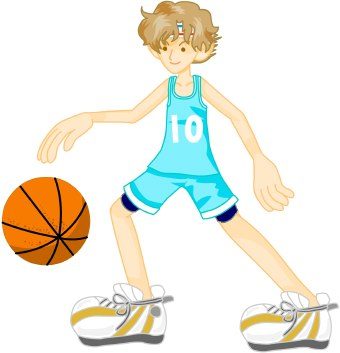 Moving clipart basketball Red sports English SIMPLE Exercises: