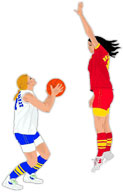 Moving clipart basketball Basketball women's basketball basketball small