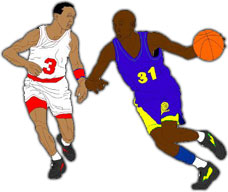 Moving clipart basketball Basketball 2 basketball players with