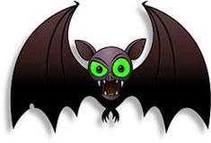 Moving clipart bat #10