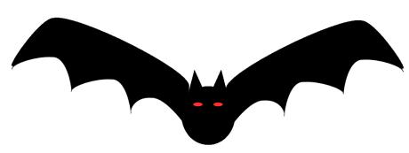 Moving clipart bat #3