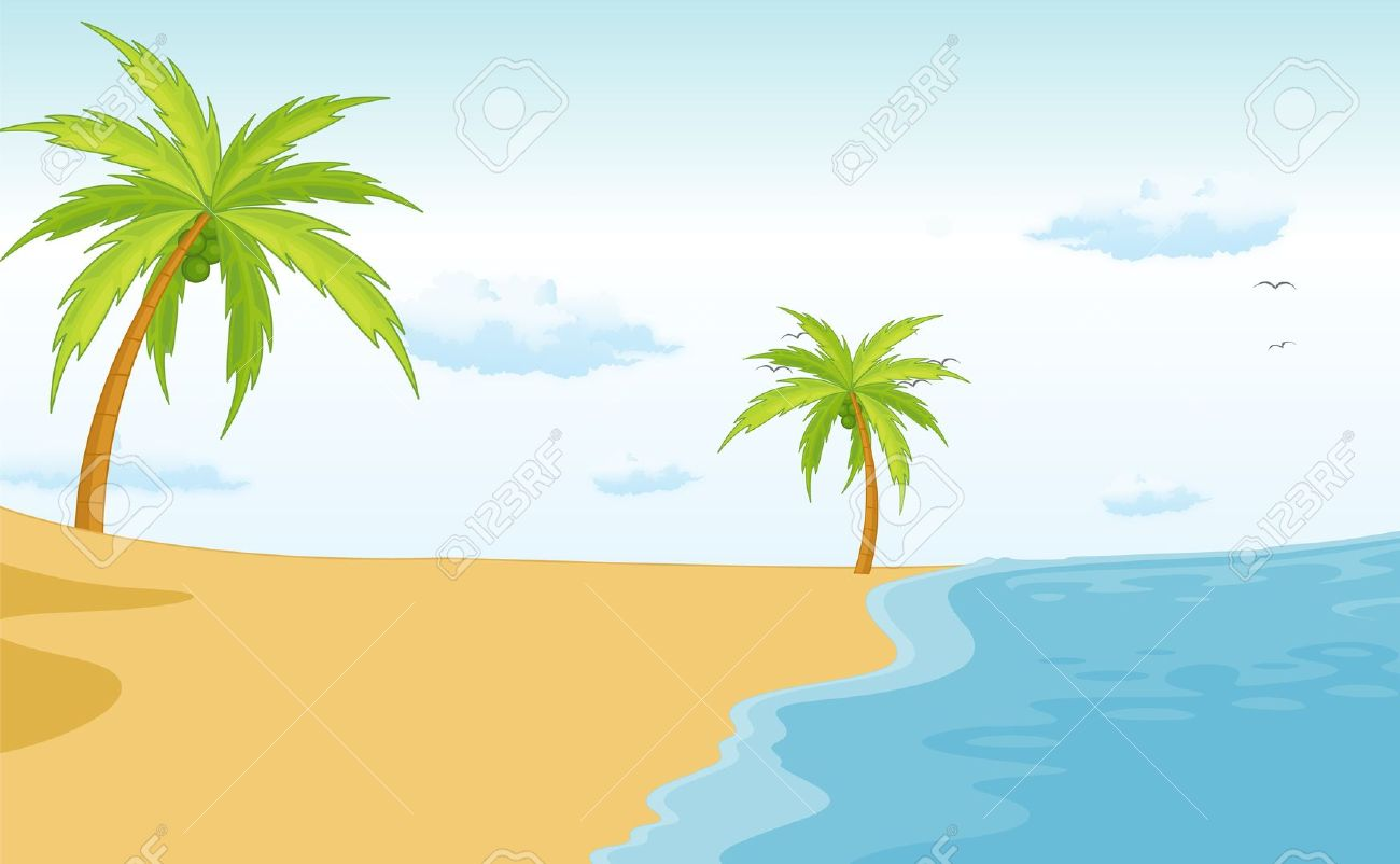 Moving clipart beach  Animated Graphic of Vector