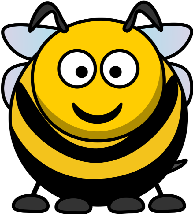 Yellow clipart bumble bee Cartoon Bees Free Bumble Bee