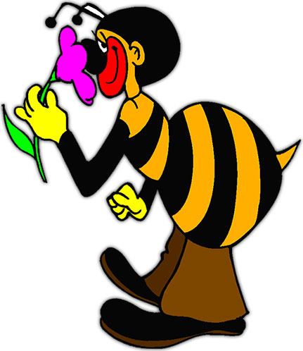 Moving clipart bee A bee Animated Large smelling