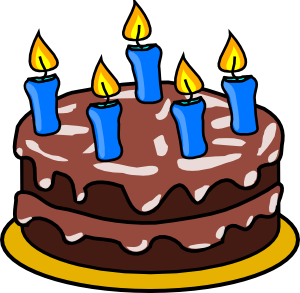 Moving clipart birthday cake #2