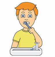 Moving clipart boy 400 Brushing Health Health Kb