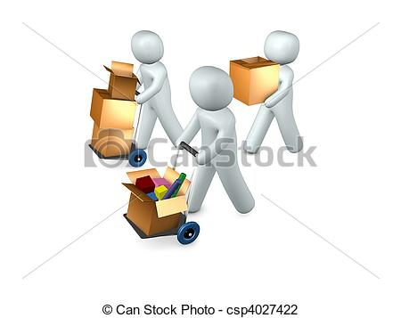Moving clipart business  conceptual image moving\' moving\'