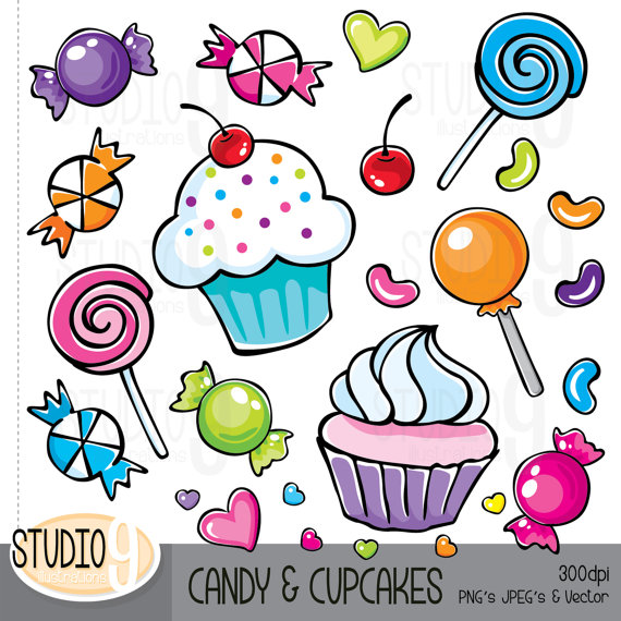 Moving clipart candy Cupcakes Candy And Cupcakes Candy