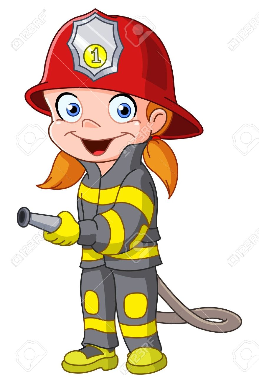 Chick clipart fighter Fireman Firefighters Clipart Animated Firefighter