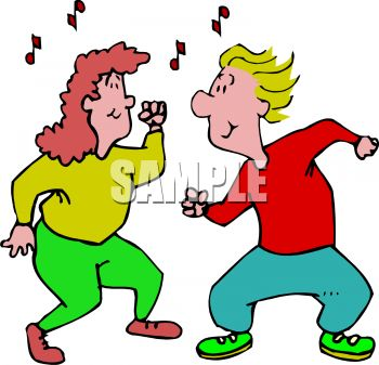 Moving clipart dancing Action Moving Dancers  Clipart