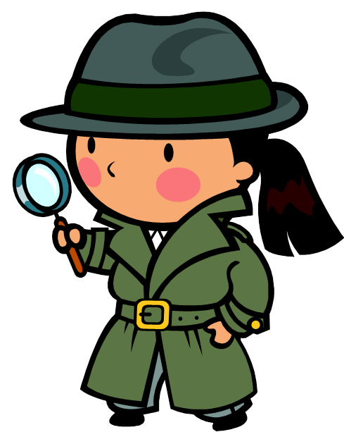 Moving clipart detective #9
