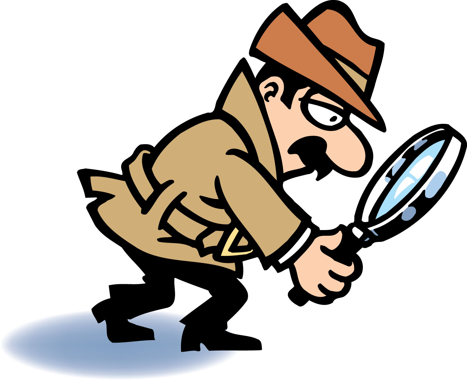 Moving clipart detective #6