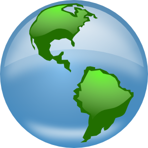 Moving clipart earth Planet  spinning revolving with
