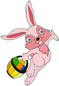 Moving clipart easter bunny Animations happy Gifs Easter Easter