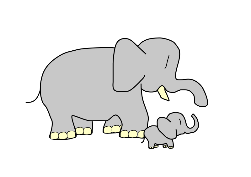 Moving clipart elephant #3
