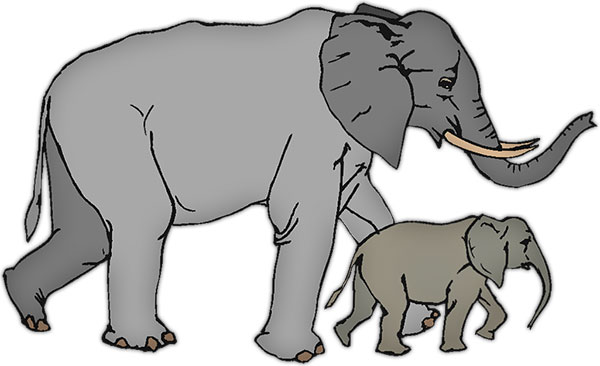 Moving clipart elephant #2