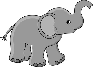 Moving clipart elephant #1