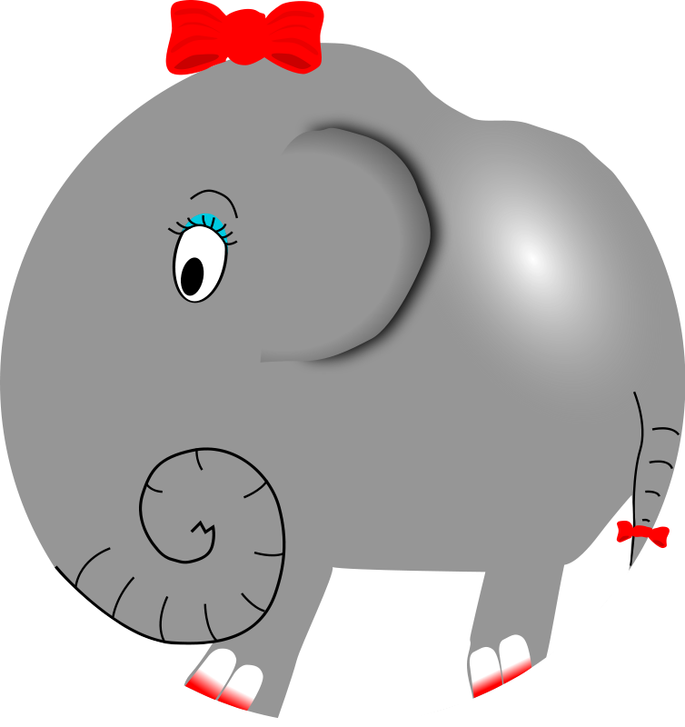 Moving clipart elephant #4