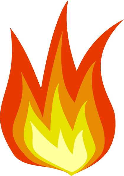 Moving clipart fire #4