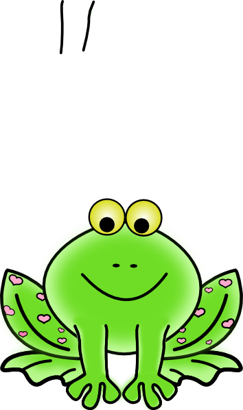 Moving clipart frog #2