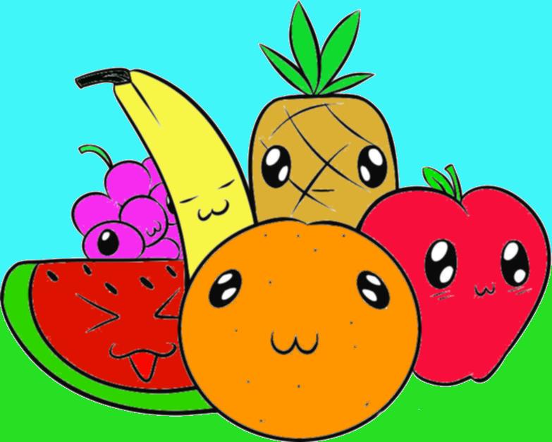 Plate clipart fruit basket #6