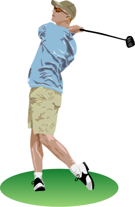 Moving clipart golf #4