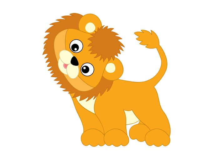 Safari clipart baby lion Lion clipart on Baby Vector